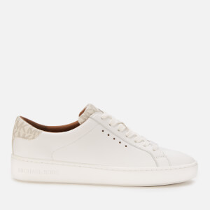 MICHAEL MICHAEL KORS Women's Irving Leather Cupsole Trainers - Optic White/Vanilla