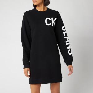 Calvin Klein Jeans Women's CK Jeans Logo Knit Dress - CK Black
