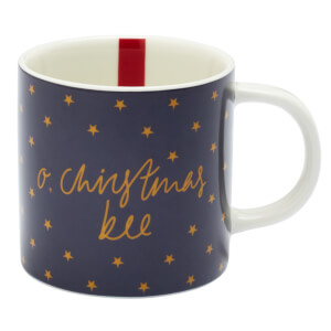 Joules Christmas Bee Mug - Navy