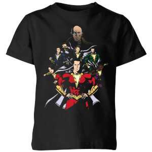 Shazam! Team Up kinder t-shirt - Zwart