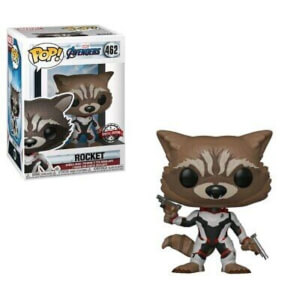 Marvel Avengers: Endgame Rocket (Team Suit) EXC Pop! Vinyl Figure