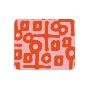 Mouse Mats Aztec Circular Pink Pattern Mouse Mat