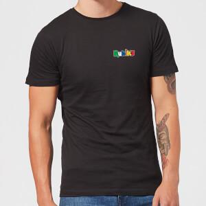 Rubik's Core Logo Pocket Men's T-Shirt - Black