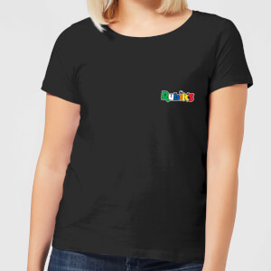 Rubik's Core Logo Pocket Women's T-Shirt - Black