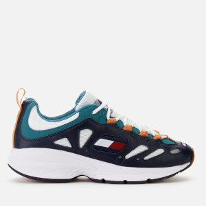 Tommy Jeans Men's Retro Chunky Runner Style Trainers - Blue/Russet/Orange
