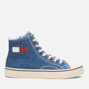 Tommy Jeans Women's Denim Hi-Top Trainers - Denim