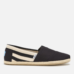 TOMS Men's University Stripe Classic Alpargata Espadrilles - Black Stripe