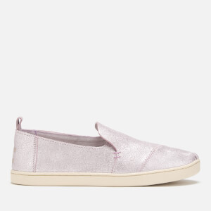 TOMS Women's Deconstructed Metallic Leather Alpargata Pumps - Lavender