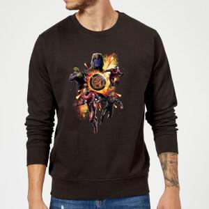 Avengers: Endgame Explosion Team Sweatshirt - Black
