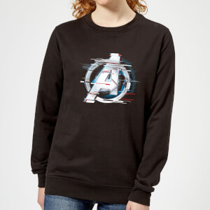 Avengers: Endgame White Logo Women's Sweatshirt - Black