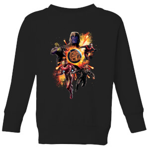 Sweat-shirt Avengers: Endgame Explosion Team - Enfant - Noir