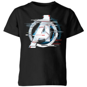 Avengers: Endgame White Logo Kids' T-Shirt - Black