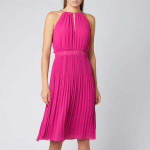 MICHAEL MICHAEL KORS Women's Chain Midi Dress - Deep Fuschia