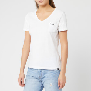 Superdry Women's Ol Essential Vee T-Shirt - Bright White