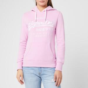 Superdry Women's Premium Goods Tonal Emb Entry Hoodie - Pastel Lavender