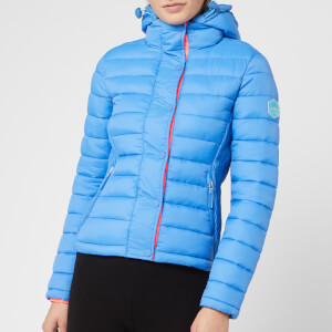 Superdry Women's Fuji Slim Double Zip Hoody - Blue