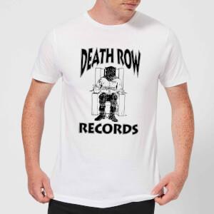Death Row Records Logo Dark Men's T-Shirt - White
