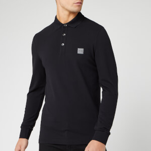 BOSS Men's Passerby Long Sleeve Polo Shirt - Black
