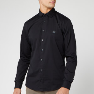 BOSS Men's Mypop 2 Poplin Stretch Shirt - Black