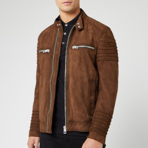 BOSS Men's Joke Suede Jacket - Brown