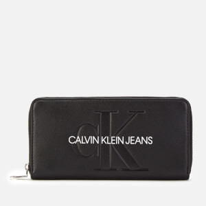 Calvin Klein Jeans Women's Large Ziparound Purse - Black
