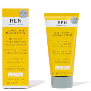 REN Clean Screen Mineral SPF30 Mattifying Broad Spectrum Face Sunscreen 50ml