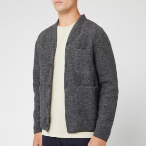 Universal Works Men's Wool Fleece Cardigan - Charcoal