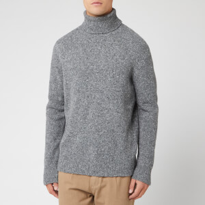 Universal Works Men's Roll Neck Knit - Fleck Grey