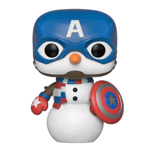 Marvel Holiday - Capitan America Natalizio Figura Pop! Vinyl
