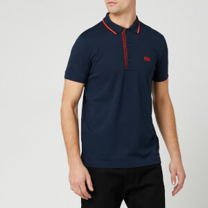 BOSS Men's Paule 4 Polo Shirt - Navy/Orange
