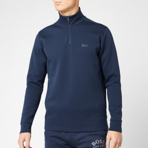 BOSS Men's Sweat X Quarter Zip Sweatshirt - Navy