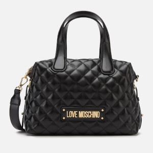 Love Moschino Women's Quilted Bowling Bag - Black