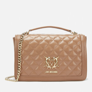 Love Moschino Women's Quilted Shoulder Bag - Camel