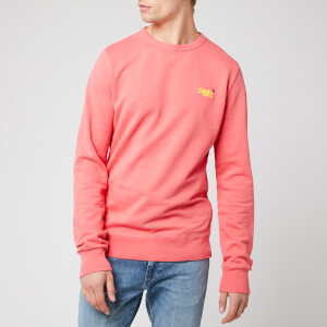 Superdry Men's Orange Label Crew Sweatshirt - Duster Coral