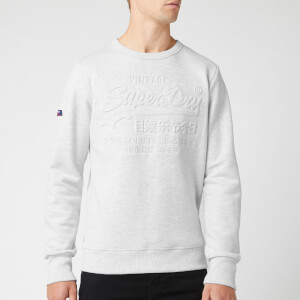 Superdry Men's Premium Goods Embossed Crew Sweatshirt - Ice Marl