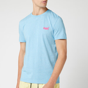 Superdry Men's Orange Label T-Shirt - Fluro Blue Grit