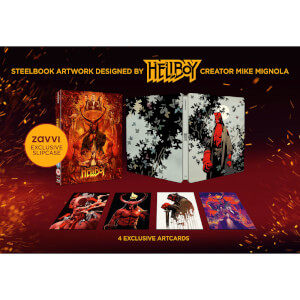 Hellboy 4K ultra HD (incluye Blu-ray 2D) - Steelbook Edición Limitada Exclusivo de Zavvi