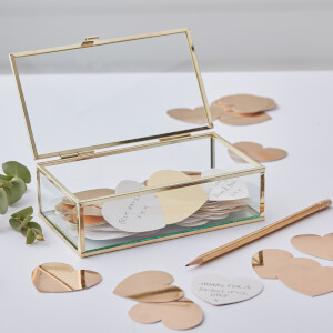 Ginger Ray Glass Box with Heart Notes