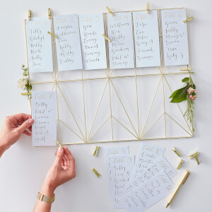 Ginger Ray Table Plan Wire Frame