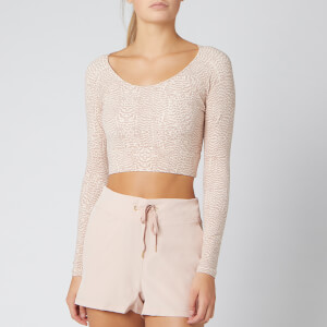 Varley Women's Arizona Crop Top - Rose Feathers
