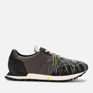 Maison Margiela Men's Paint Splash Replica Runner - Mix Grey
