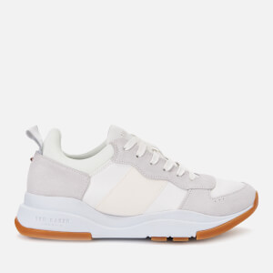 Ted Baker Women's Waverdi Suede/Satin Chunky Running Style Trainers - Ivory