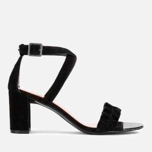 Ted Baker Women's Floxen Suede Block Heeled Sandals - Black