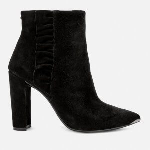 Ted Baker Women's Frillis Suede Heeled Ankle Boots - Black