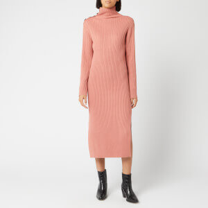 See By Chloé Women's High Neck Rib Dress - Canyon Clay