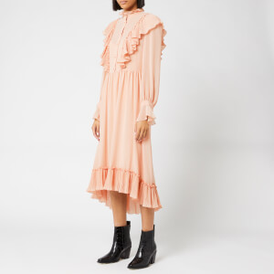 See By Chloé Women's Frill Detail Midi Dress - Smokey Pink