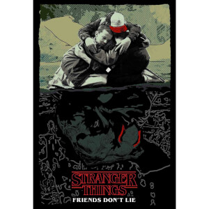 "Poster giclé Stranger Things ""Friends Don't Lie"" Netflix"