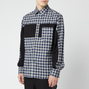 Lanvin Men's Patchwork Shirt - Grey/Blue