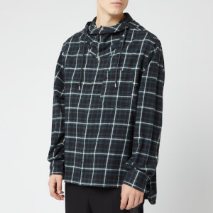 Lanvin Men's Hooded Overshirt - Black/Green