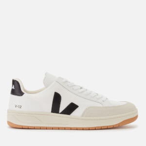 Veja Men's V-12 B-Mesh Trainers - White/Black